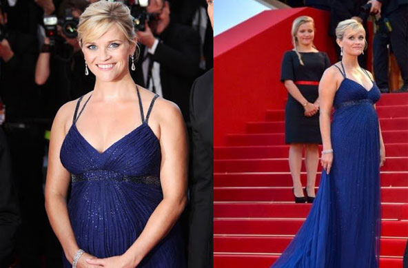 Reese Witherspoon in Custom Atelier Royal Blue Versace